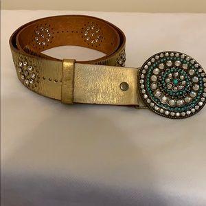 Lines Pelle leather belt